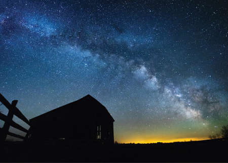 Barn with the Milky Way