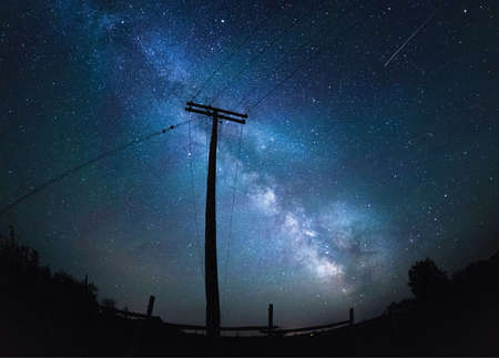 Phone Pole with the Milky Way