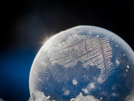 Frost on a bubble