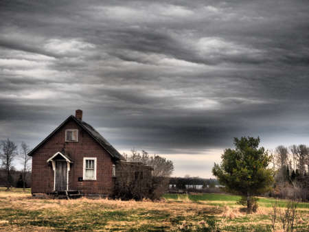 Barn with dramatic sky