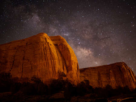 Canyon and Night Sky