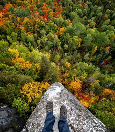 Feet on Cliff