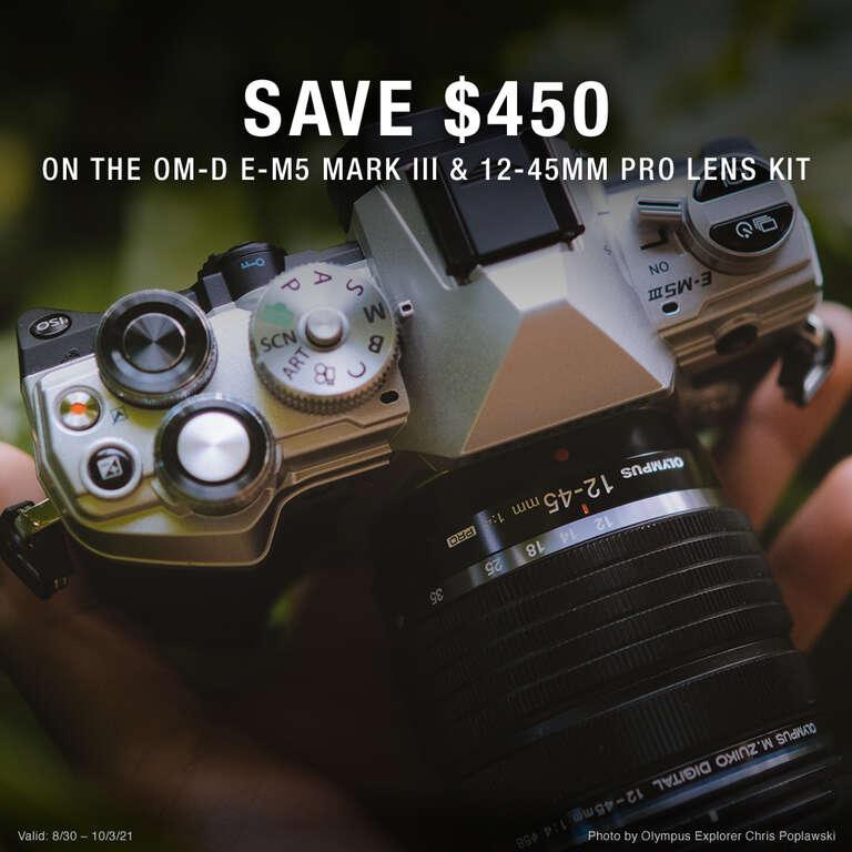 E-M5 Mark III 12-45mm Promo